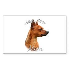Min Pin Mom2 Rectangle Decal