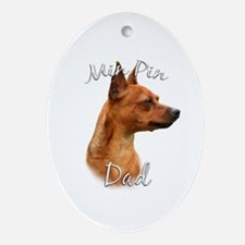 Min Pin Dad2 Oval Ornament