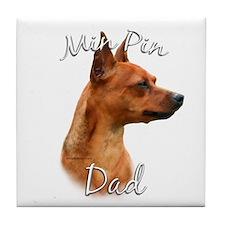 Min Pin Dad2 Tile Coaster