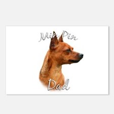 Min Pin Dad2 Postcards (Package of 8)