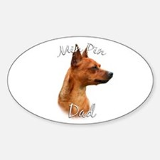 Min Pin Dad2 Oval Decal
