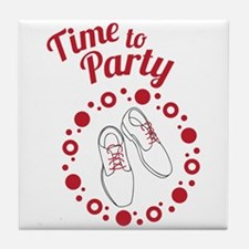 Time To Party Tile Coaster