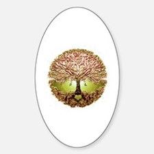 Funny Tree roots Sticker (Oval)