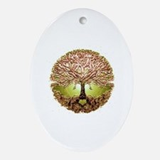 Funny Tree life Oval Ornament