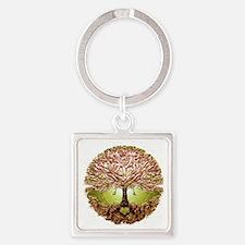Unique Tree of life Square Keychain
