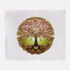 Funny Tree of life Throw Blanket