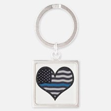 Cute Line Square Keychain