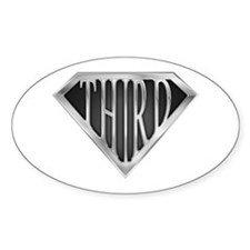 SuperThird(metal) Oval Decal