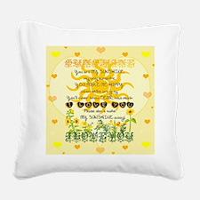 Unique You my sunshine Square Canvas Pillow