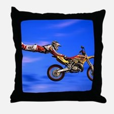 Motocross Freestyle Throw Pillow