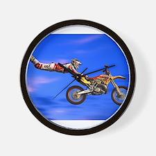 Motocross Freestyle Wall Clock