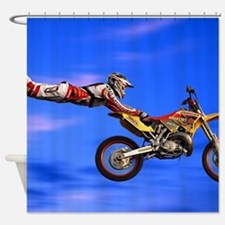 Motocross Freestyle Shower Curtain
