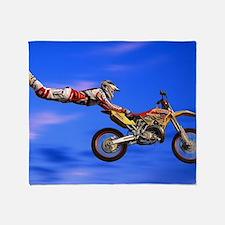Motocross Freestyle Throw Blanket