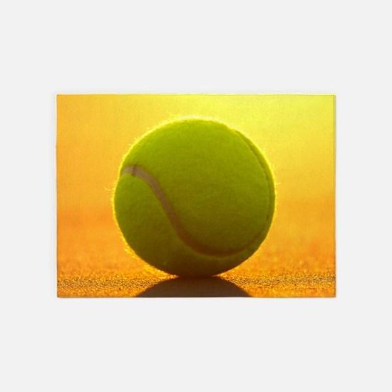 Tennis Ball 5'x7'Area Rug