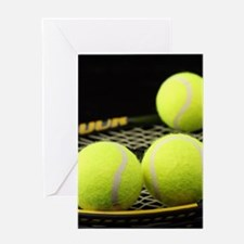 Tennis Balls And Racquet Greeting Cards