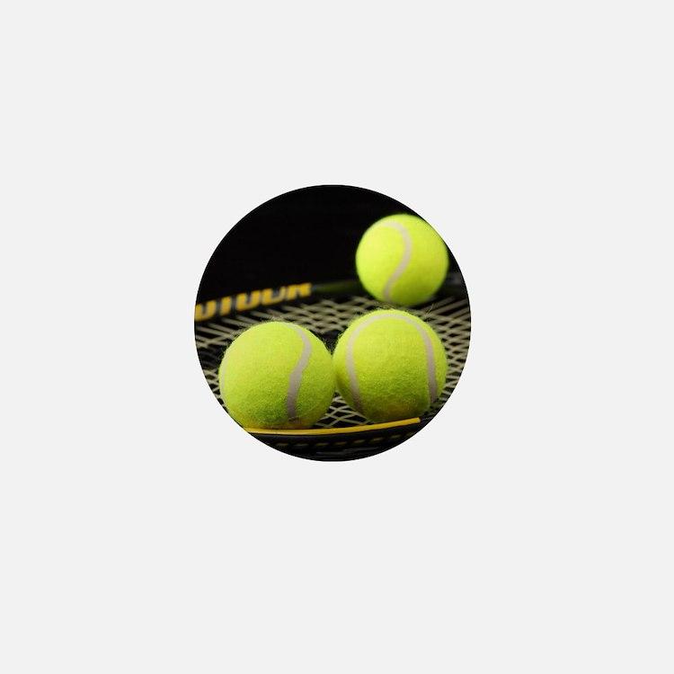 Tennis Balls And Racquet Mini Button (10 pack)