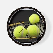 Tennis Balls And Racquet Wall Clock