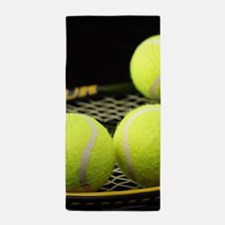 Tennis Balls And Racquet Beach Towel