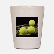 Tennis Balls And Racquet Shot Glass