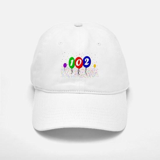 102nd Birthday Baseball Baseball Cap