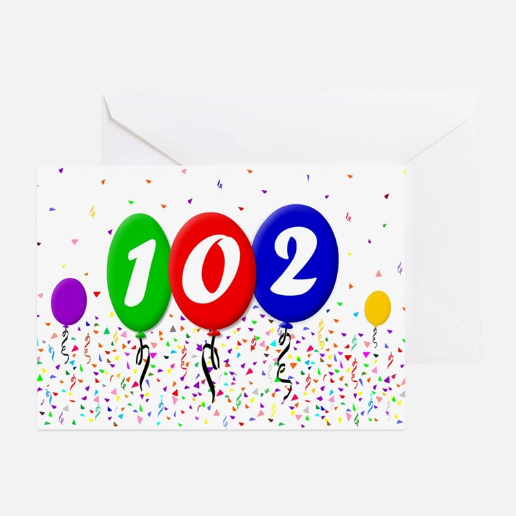 102nd Birthday Greeting Cards (Pk of 20)