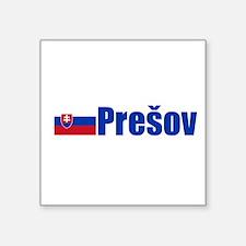 "Cute Slovak flag Square Sticker 3"" x 3"""