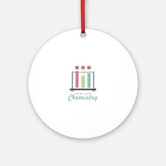 Love Chemistry Round Ornament