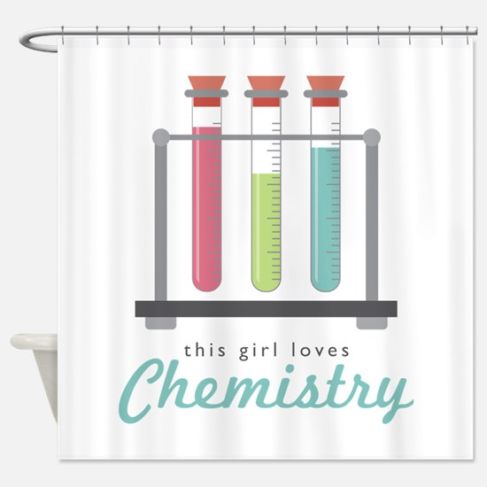 Love Chemistry Shower Curtain