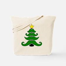Mustache christmas tree Tote Bag