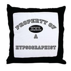 Property of a Hypsographist Throw Pillow