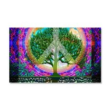 Tree of Life World Peace Car Magnet 20 x 12
