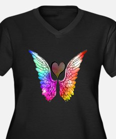 Angel Wings Heart Plus Size T-Shirt