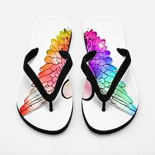 Angel Wings Heart Flip Flops