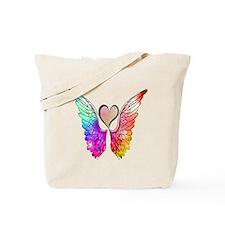 Angel Wings Heart Tote Bag