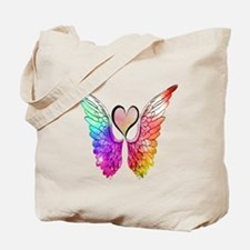 Angel Wings Heart Tote Bag