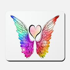 Angel Wings Heart Mousepad