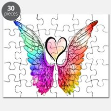 Angel Wings Heart Puzzle