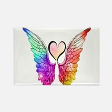 Angel Wings Heart Magnets