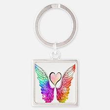 Angel Wings Heart Keychains