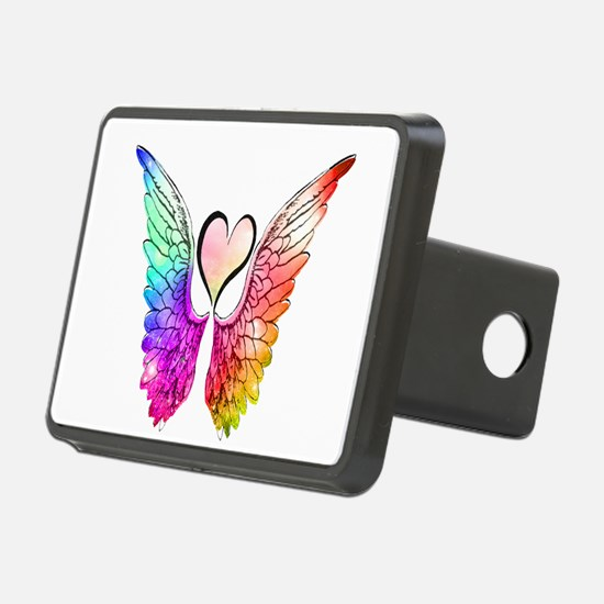 Angel Wings Heart Hitch Cover
