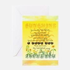 Sunshine Song Greeting Cards
