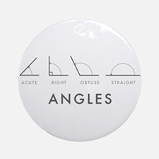 Angles Round Ornament