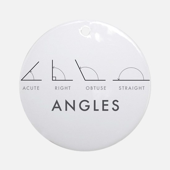Angles Round Ornament