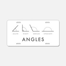 Angles Aluminum License Plate