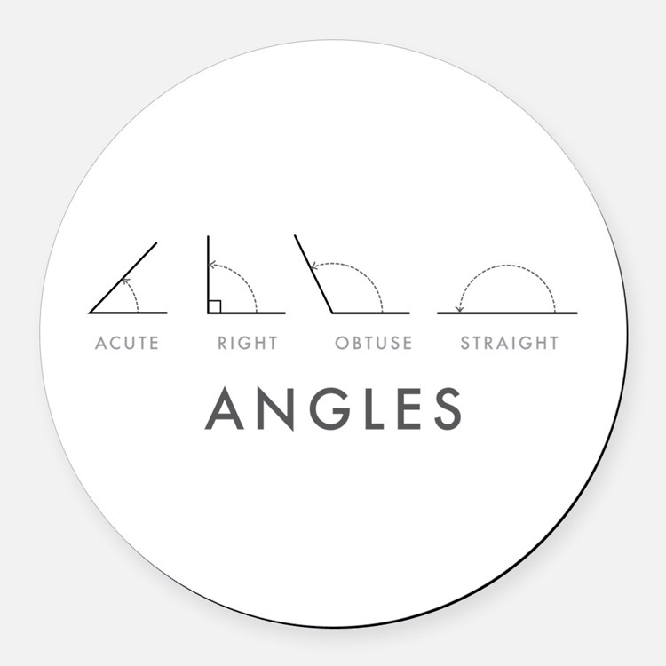 Angles Round Car Magnet