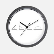 Math Angles Wall Clock