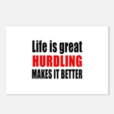 Life is great Hurdling ma Postcards (Package of 8)