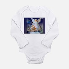 Guardian angel with children crossing br Body Suit