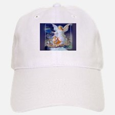 Guardian angel with children crossing bridge Baseball Baseball Cap