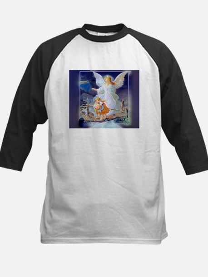 Guardian angel with children cross Baseball Jersey